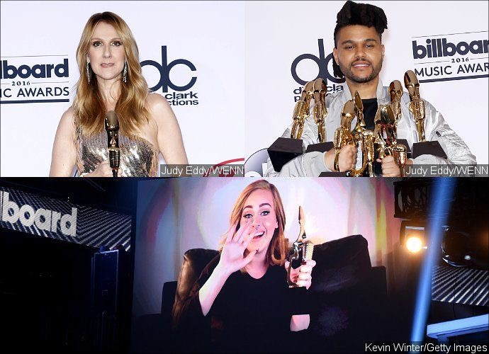 Billboard Music Awards 2016: Celine Dion, The Weeknd and Adele Are Biggest Winners