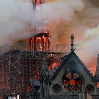 Wild Fire Breaks Out At Notre Dame Cathedral In Paris-France.