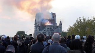 Wild Fire Breaks Out At Notre Dame Cathedral In Paris-France. 1