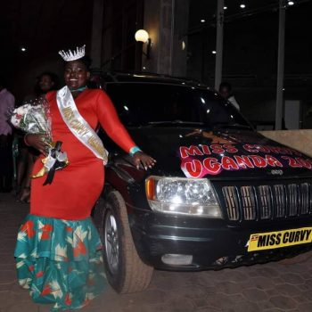 Belinda-Miss Curvy Uganda Stranded After Her Prize Car Breaks Down.