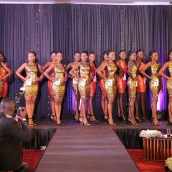 Miss Uganda 2019 Finalists Unveiled In Red And Gold.