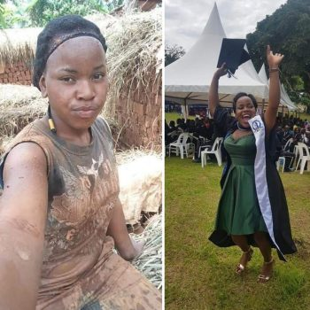 Sharon Mbabazi The Proud Bricklayer Graduates With A Degree In Mass Communication.