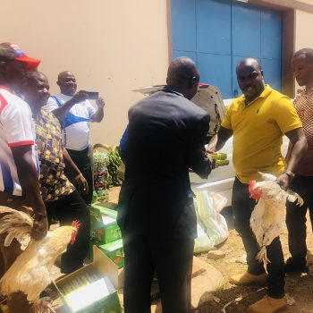 SC Villa Supporters Gift Team Players With Heavy Christmas Hampers.