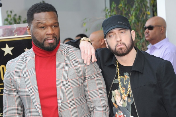 Eminem Honors 50 Cent At Hollywood Walk Of Fame Ceremony. 7