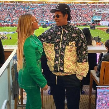 Jay-Z Explains Why He And Beyonce Remained Seated During The Super Bowl National Anthem Singing Moment.