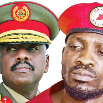 """""""Stop Copying Everything I Do. That Red People Power Beret Was My Idea."""" Gen. Muhoozi Calls Out Bobi Wine."""