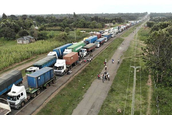 Kenyan Truck Drivers Suspend Movement To Uganda Due To Mistreatment. 1