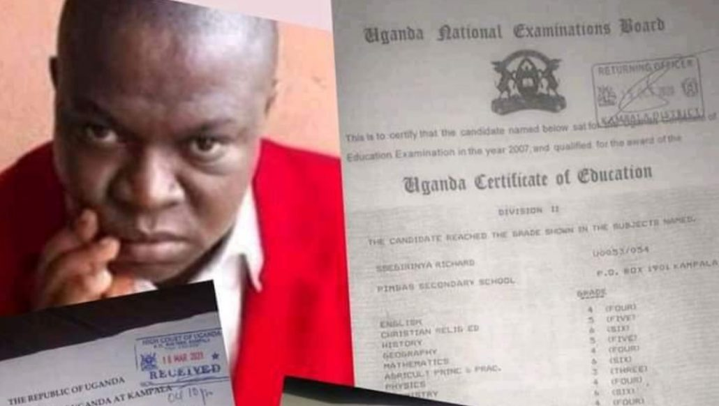 sseg 1030x582 - Jealous Sulaiman Kidandala Drags Mohammed Ssegirinya To Court Accusing Him Of Forging Academic Documents, And Using Fake Papers To Join Parliament.