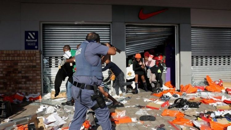 POLICE - South Africa Suffers Worst Violent Protests In Years, 45 Dead As Unrest Following Zuma's Jailing Intensify.